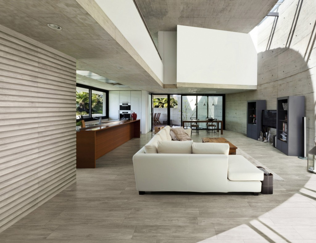 Residential living areas porcelain tiles for Forets carrelage