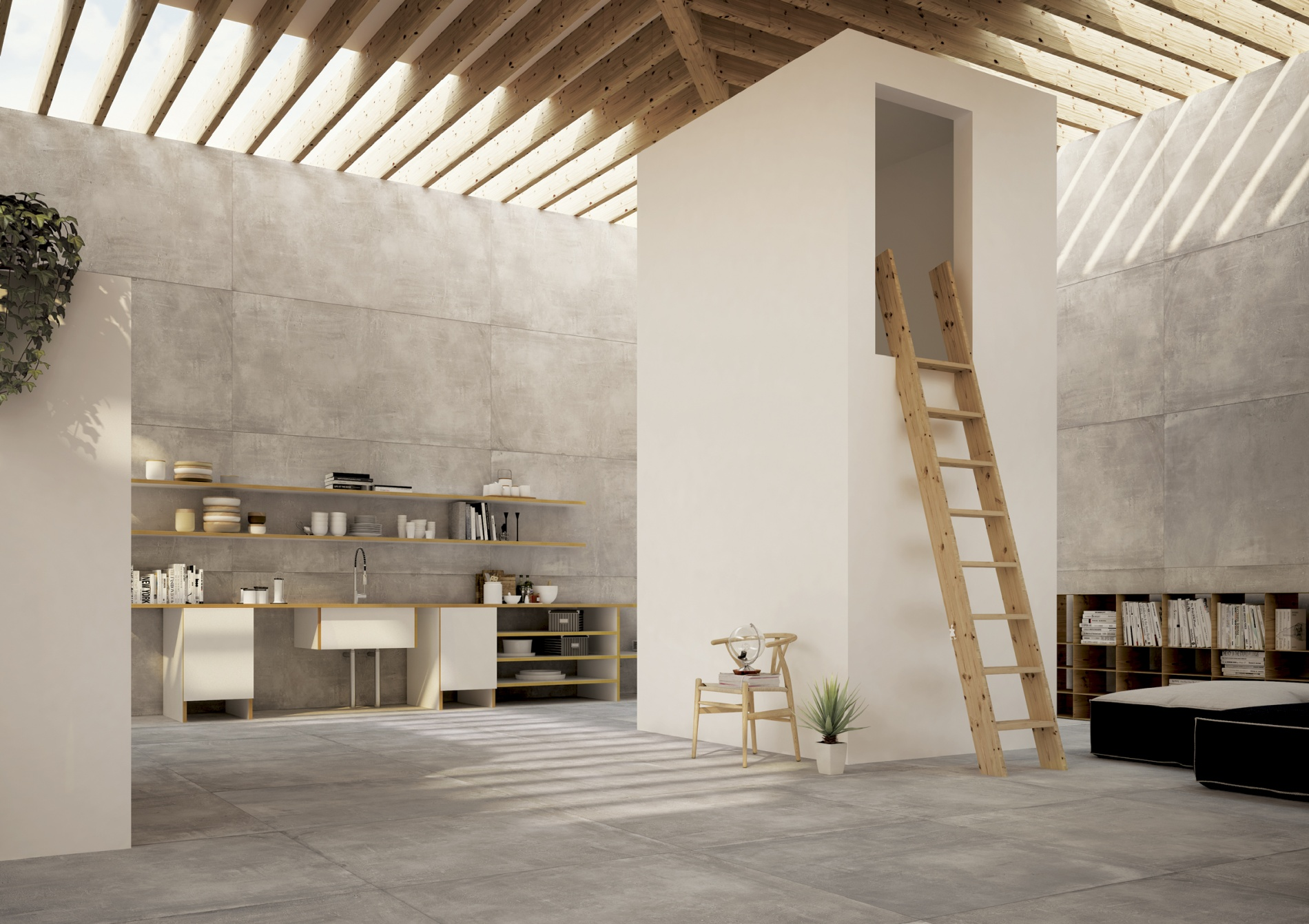 porcelain tile example: Cemento range high resolution photo