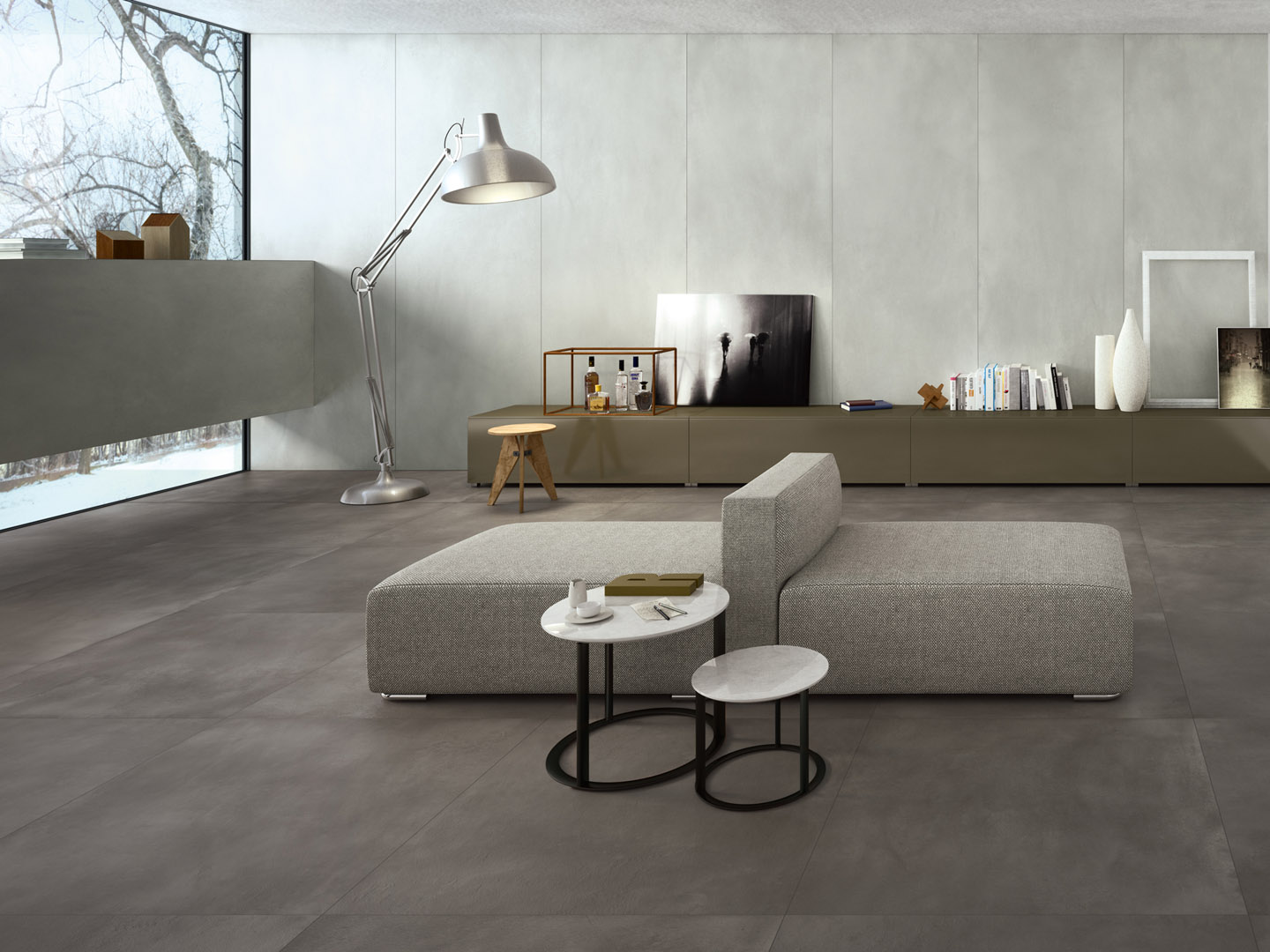 porcelain tile example: Resin Sense range high resolution photo