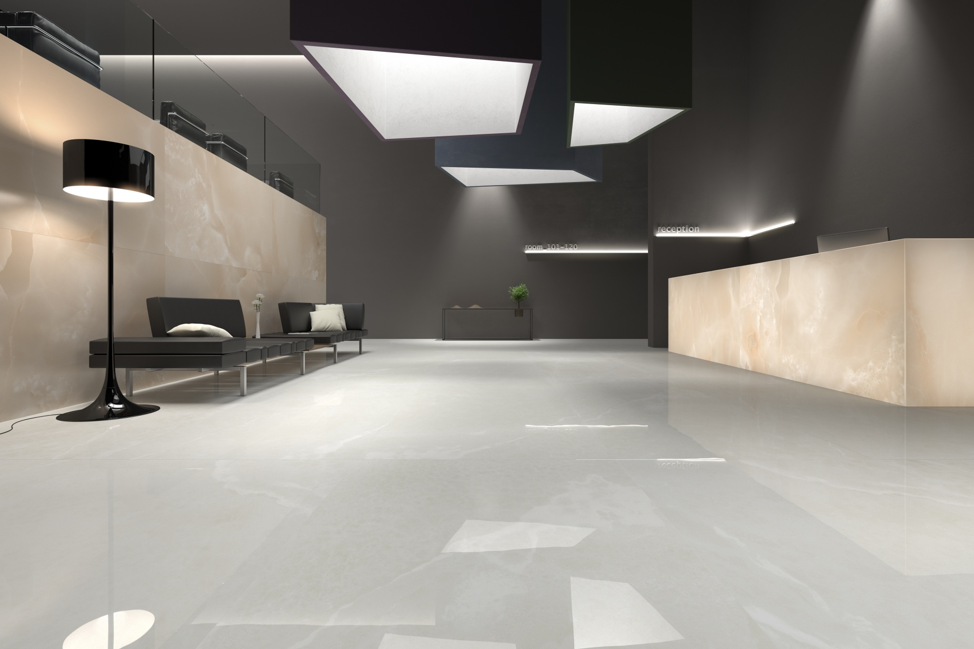 porcelain tile example: Onyx Sense range high resolution photo