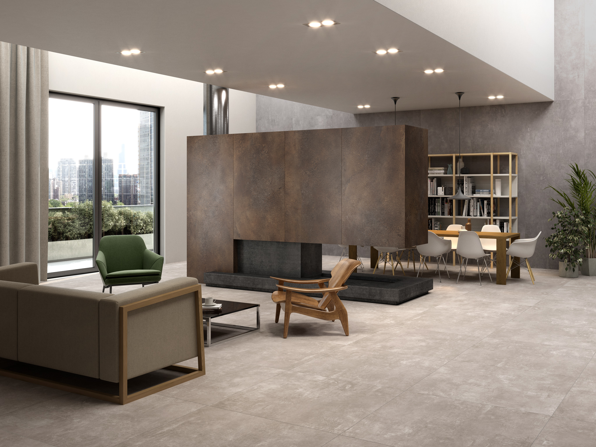 introducing urbe a new concrete effect porcelain tile from italy. Black Bedroom Furniture Sets. Home Design Ideas