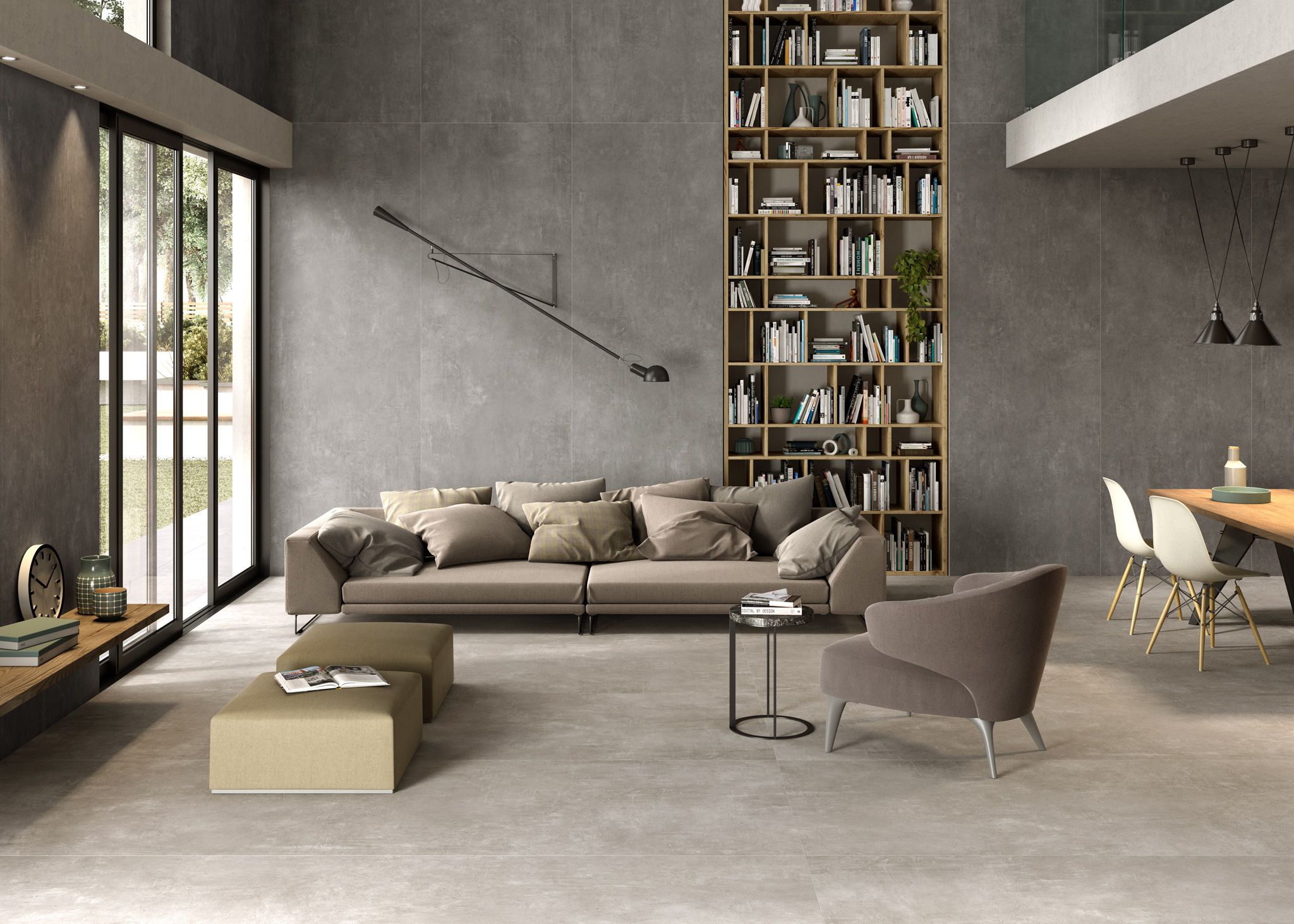 Introducing urbe a new concrete effect porcelain tile for Cuisine carrelage anthracite