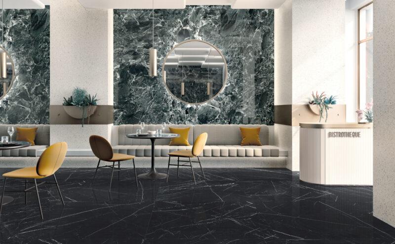 Grandi Marmi – Nero Marquina & Casa Dei Marmi – Saint Denis Verde 20204