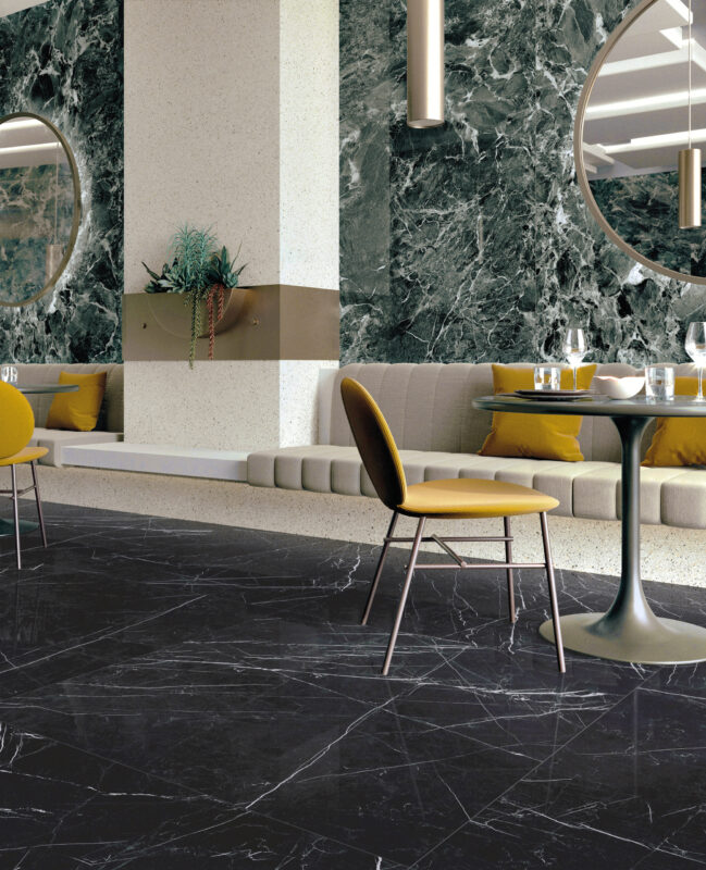 Grandi Marmi – Nero Marquina & Casa Dei Marmi – Saint Denis Verde 20208
