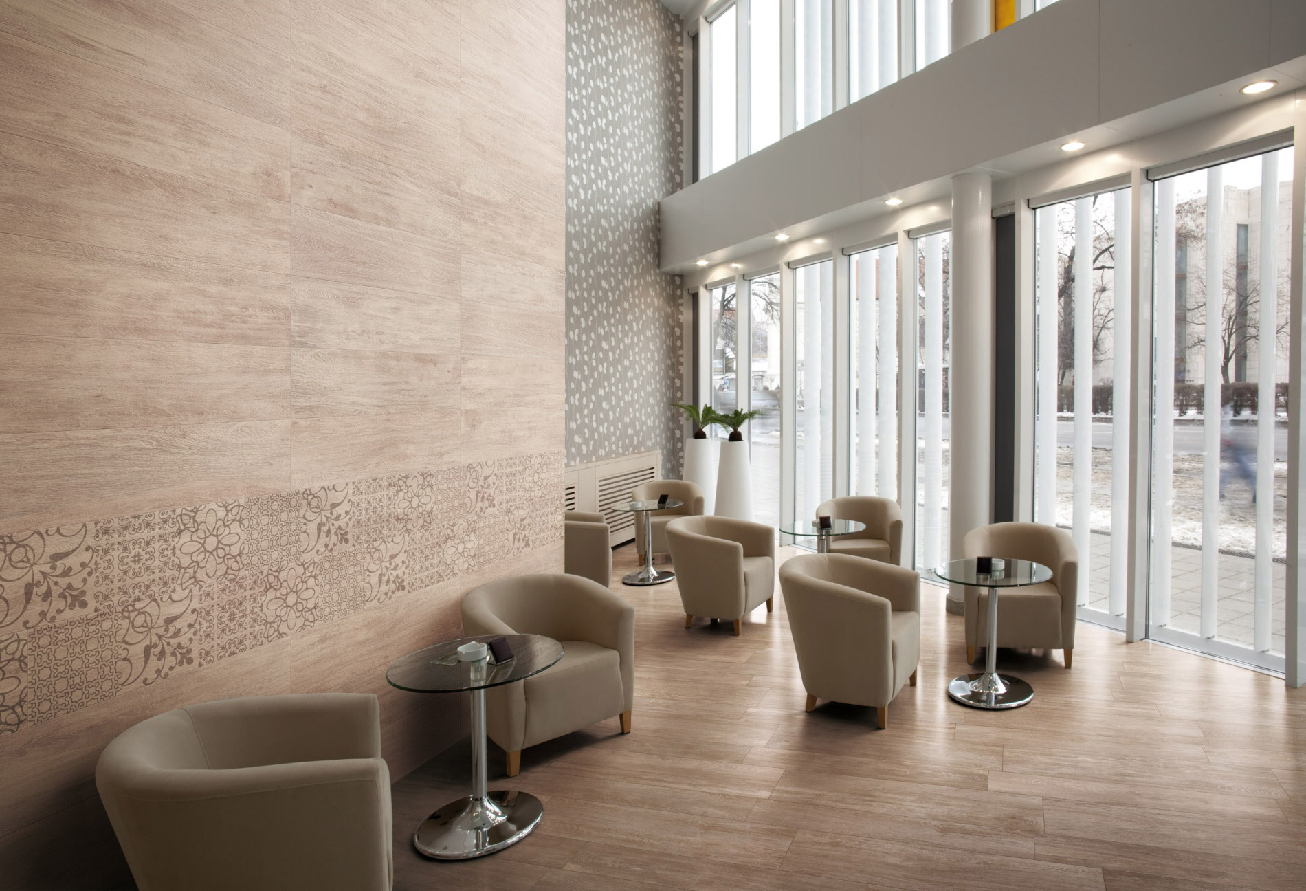 Hotels bars restaurants porcelain tiles for Aubade carrelage