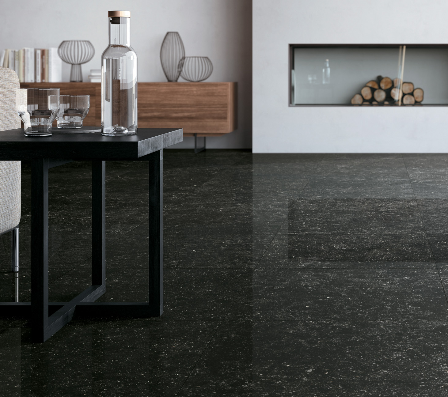 Angola black polished porcelain tile from our dolomites tile angola black 6362 dailygadgetfo Gallery