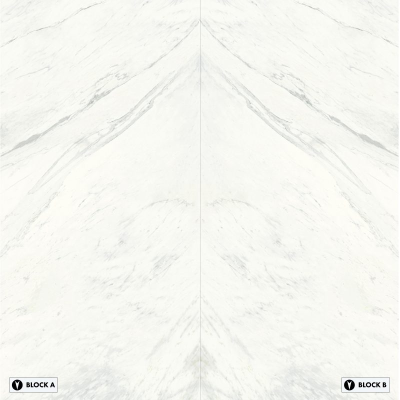 Grandi Marmi - Bianco Elegante Bookmatched – Polished