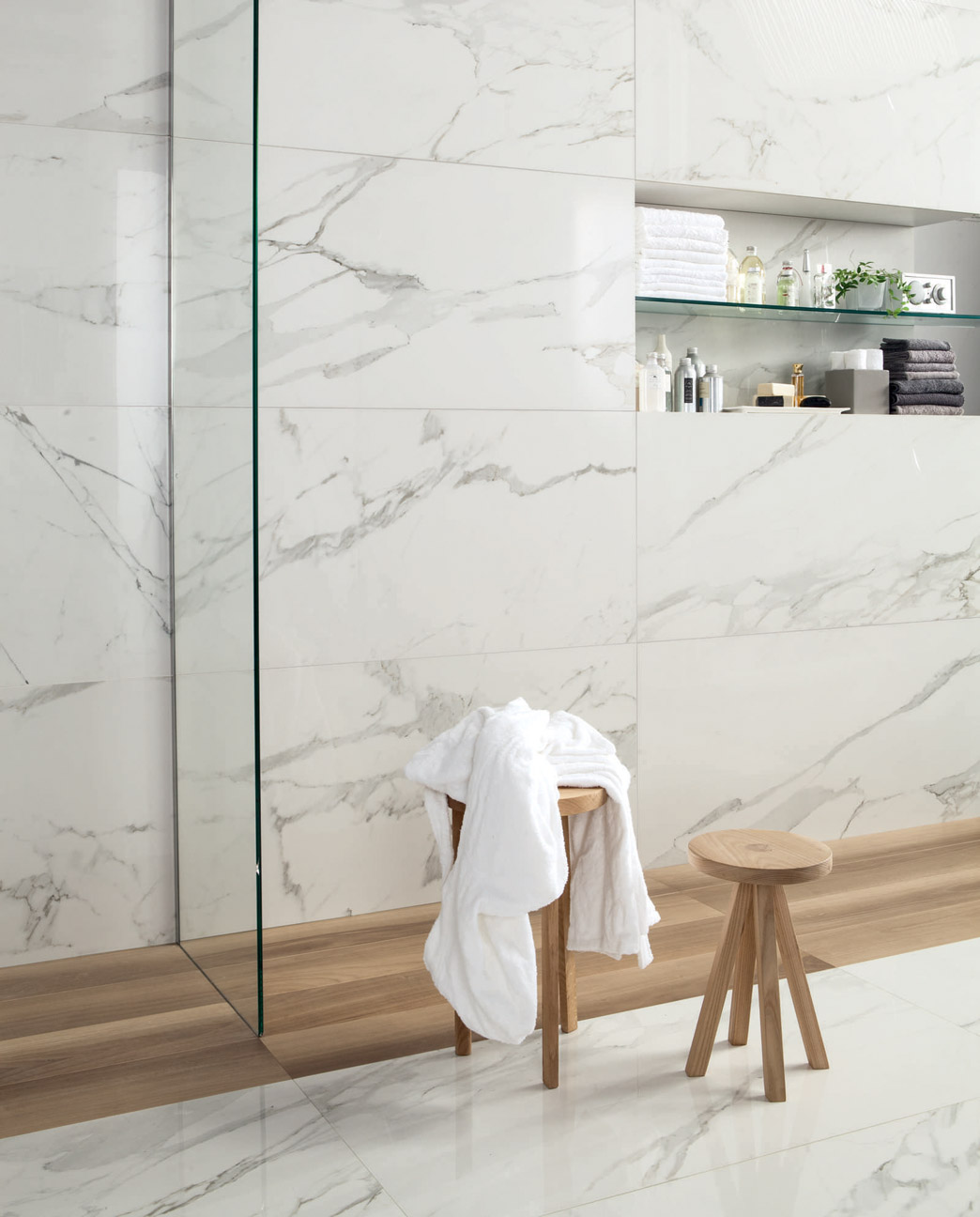 Bathrooms wet rooms spas porcelain tiles for Carrelage 60x120
