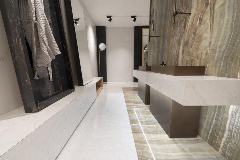 Grandi Marmi – Carrara Elite & Resin Sense – Marrone & Onyx Sense – Verde (Photo ID: 12584)