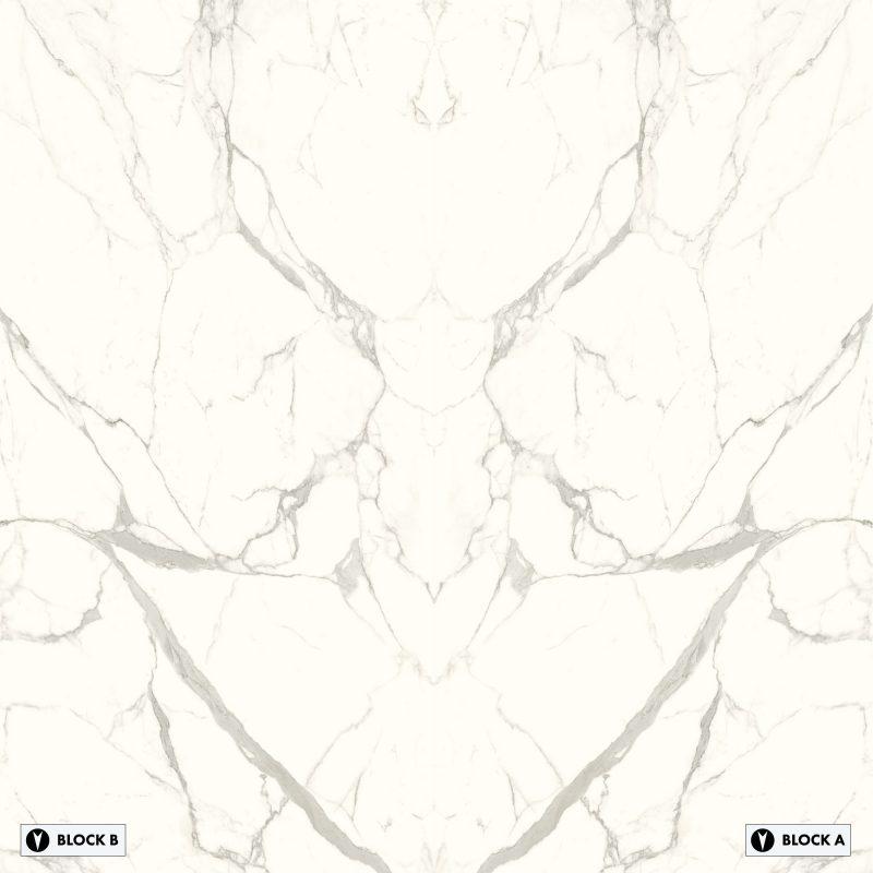 Marvel - Marmi Bianco Bookmatched – Polished