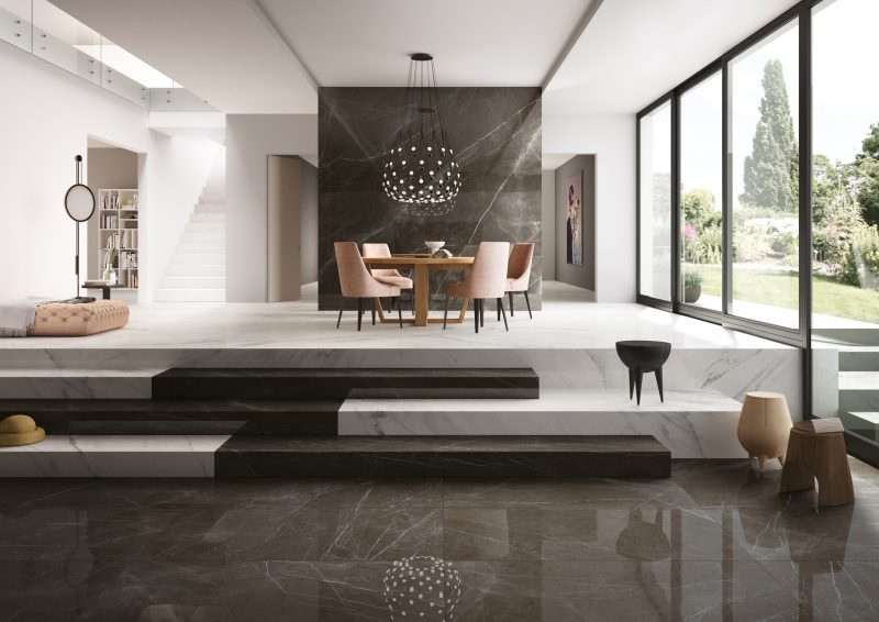 Grandi Marmi – Negresco & Bianco Elegante 11496