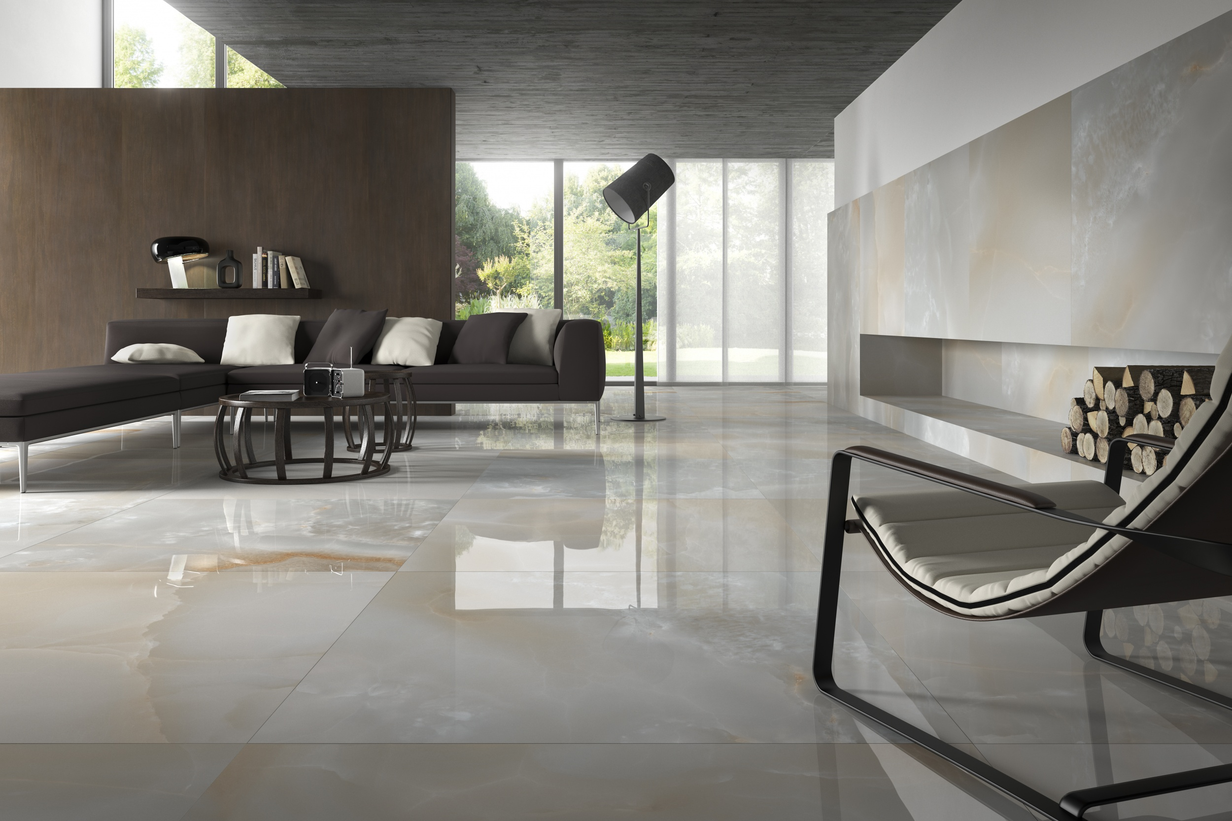 Grigio - Natural porcelain tile from our Depth 6mm, Extra